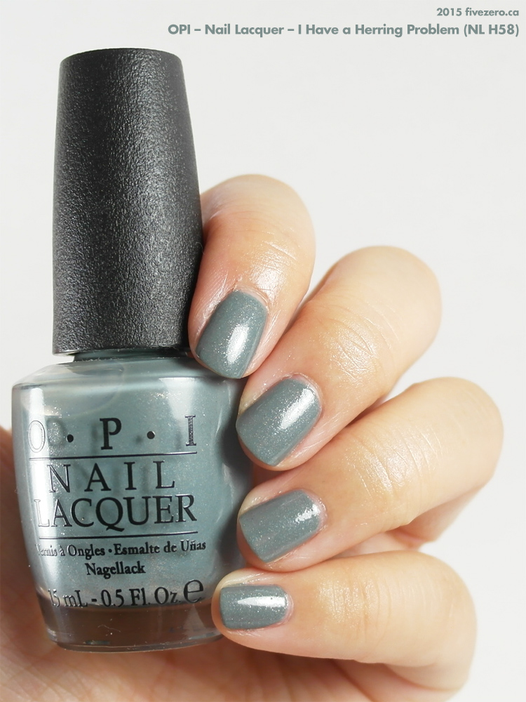 OPI Nail Lacquer in I Have a Herring Problem, swatch