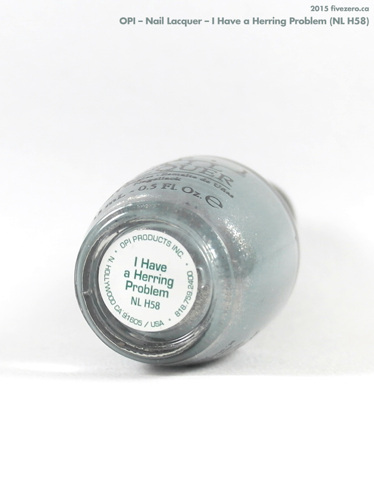 OPI Nail Lacquer in I Have a Herring Problem, label