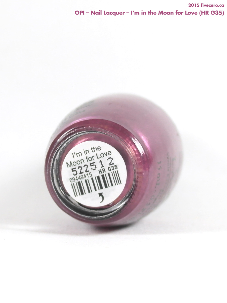 OPI Nail Lacquer in I'm in the Moon for Love, label