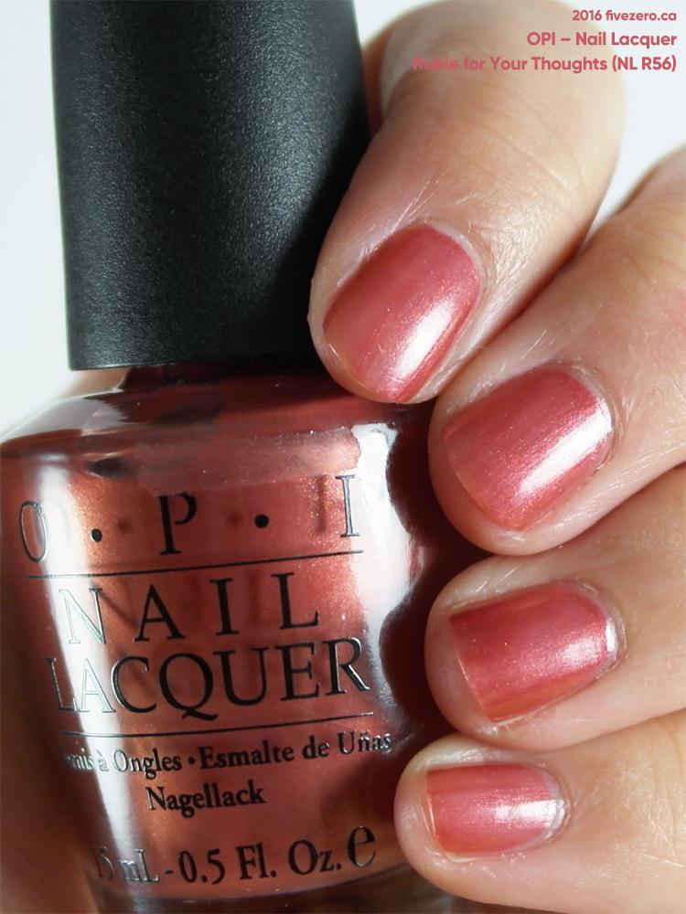 OPI Nail Lacquer in Ruble for Your Thoughts, swatch