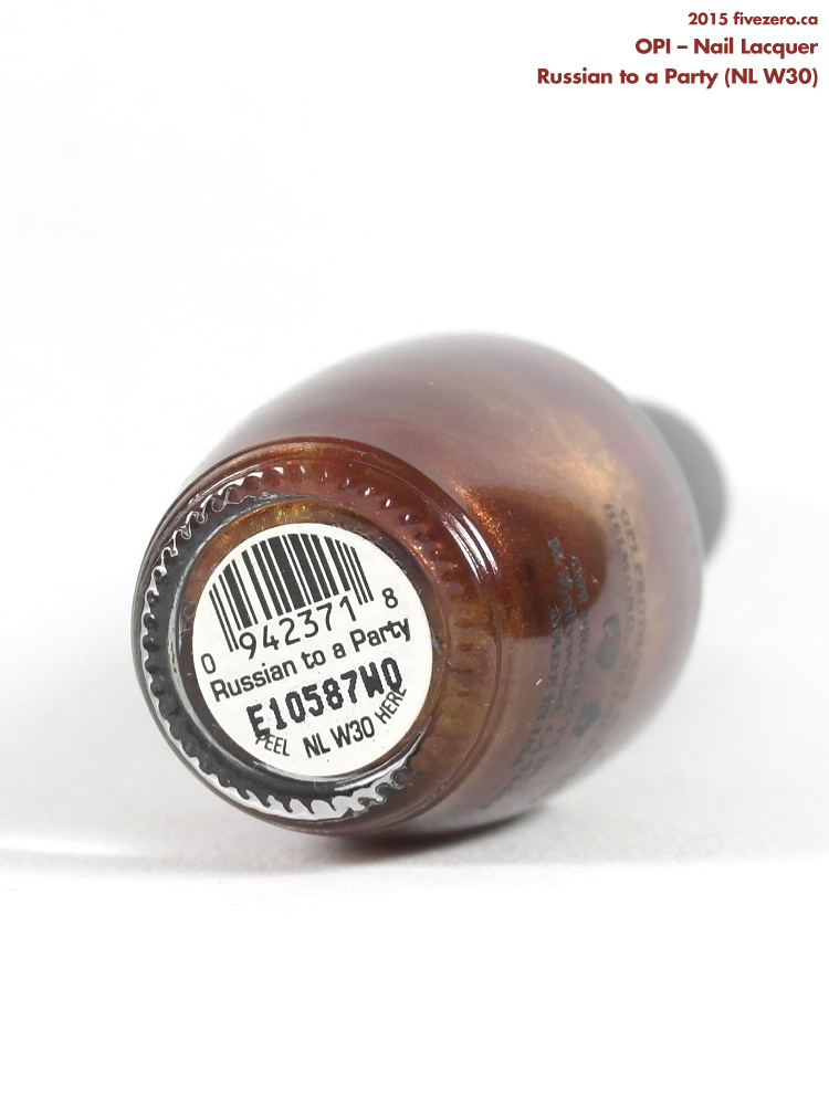 OPI Nail Lacquer in Russian to a Party, label