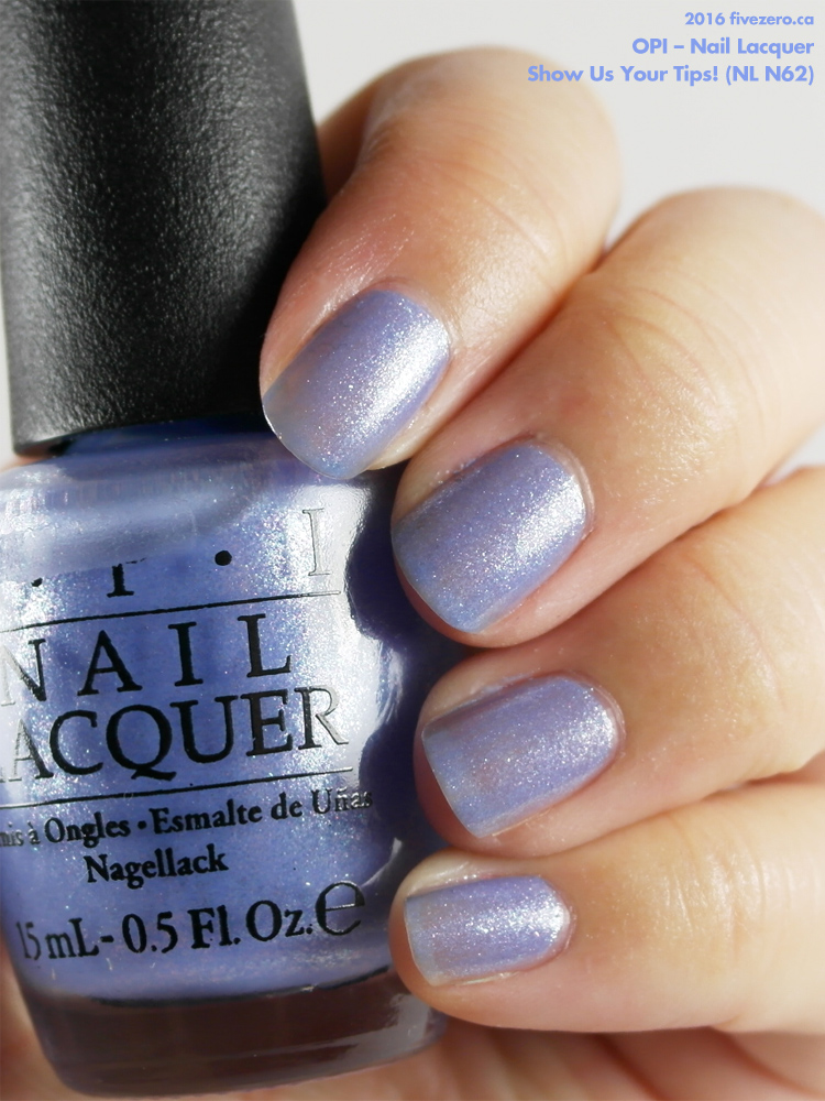 OPI Nail Lacquer in Show Us Your Tips!, swatch