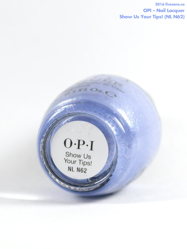 OPI Nail Lacquer in Show Us Your Tips!, label