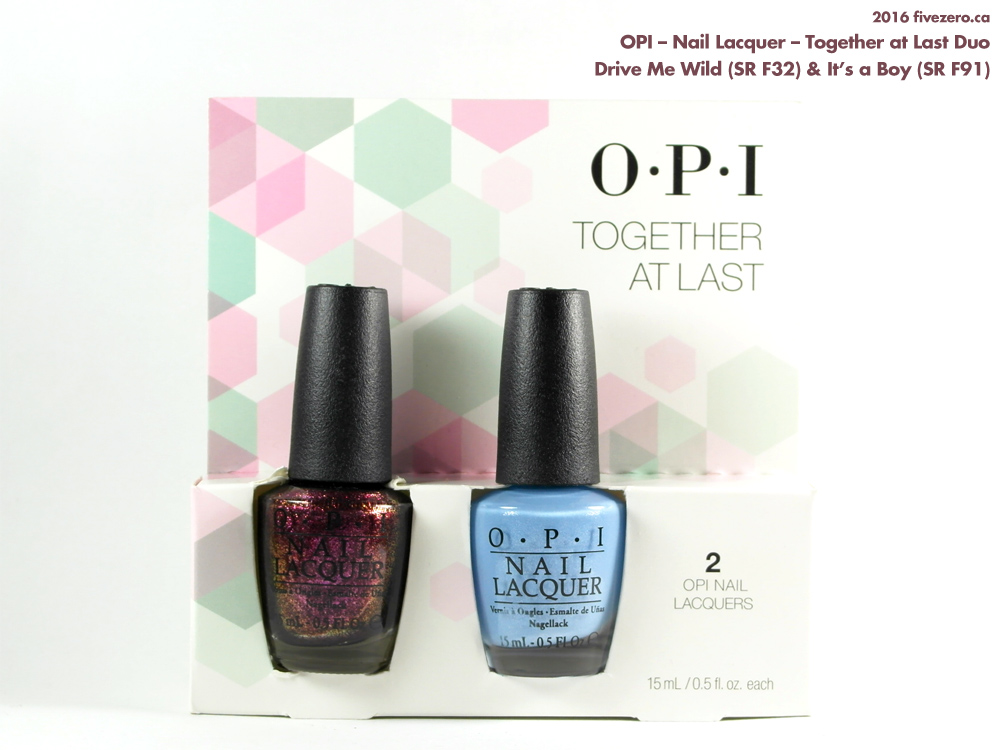 OPI Nail Lacquer Together At Last duo pack, Drive Me Wild & It's a Boy