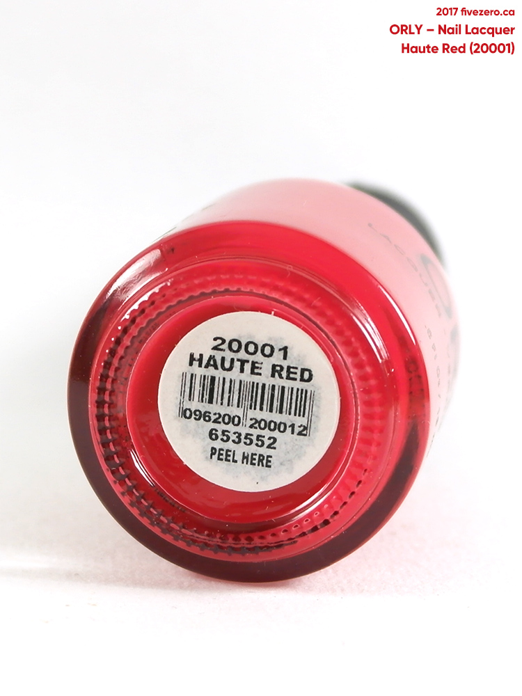 Orly Nail Lacquer in Haute Red, label