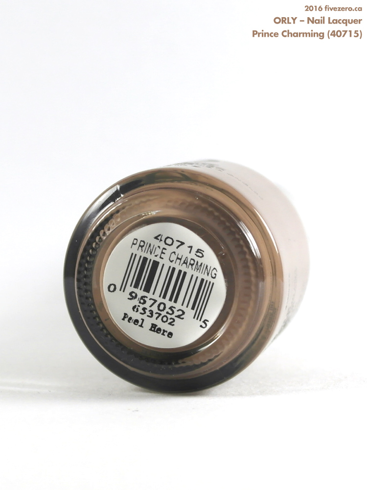 Orly Nail Lacquer in Prince Charming, label