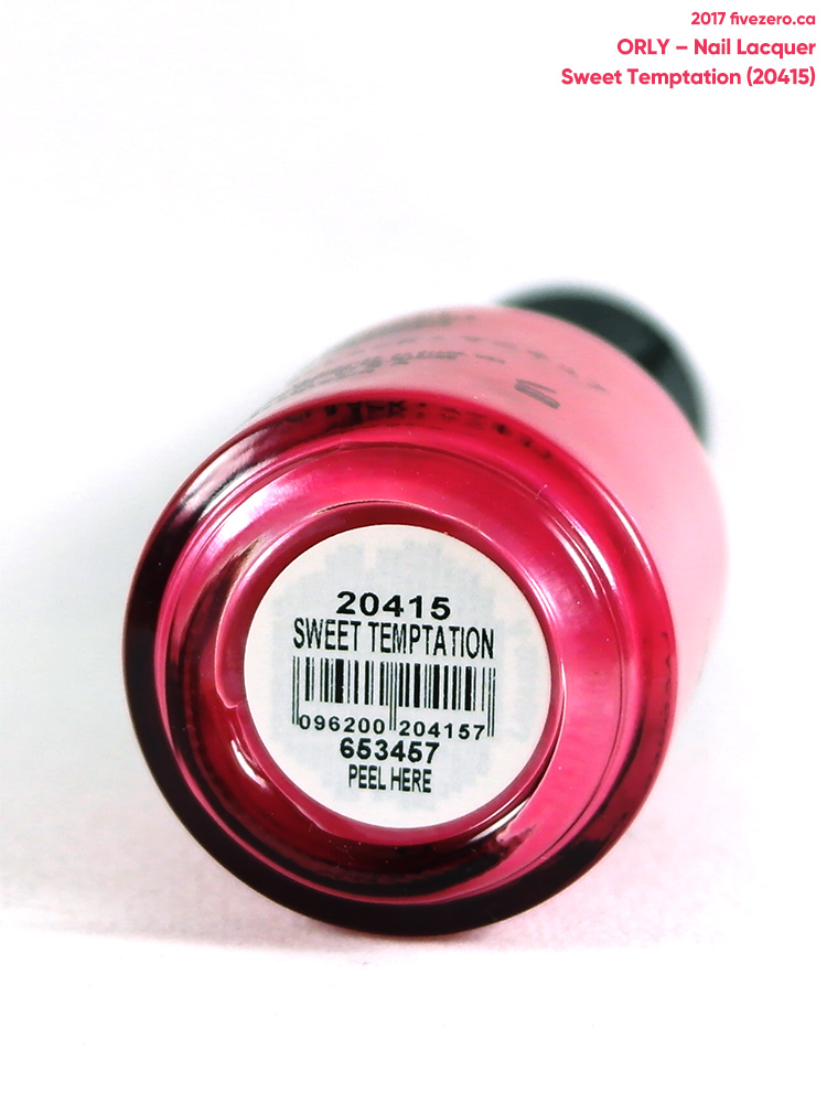 Orly Nail Lacquer in Sweet Temptation, label