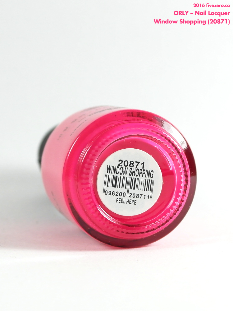 Orly Nail Lacquer in Window Shopping, label