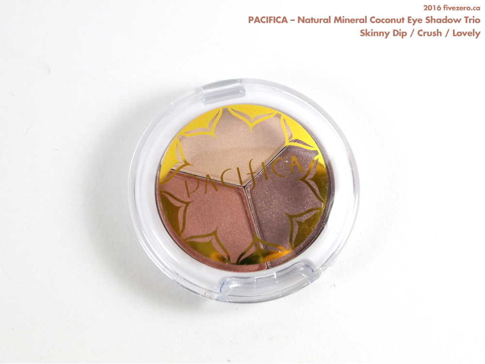 Pacifica Natural Mineral Coconut Eye Shadow Trio in Skinny Dip / Crush / Lovely