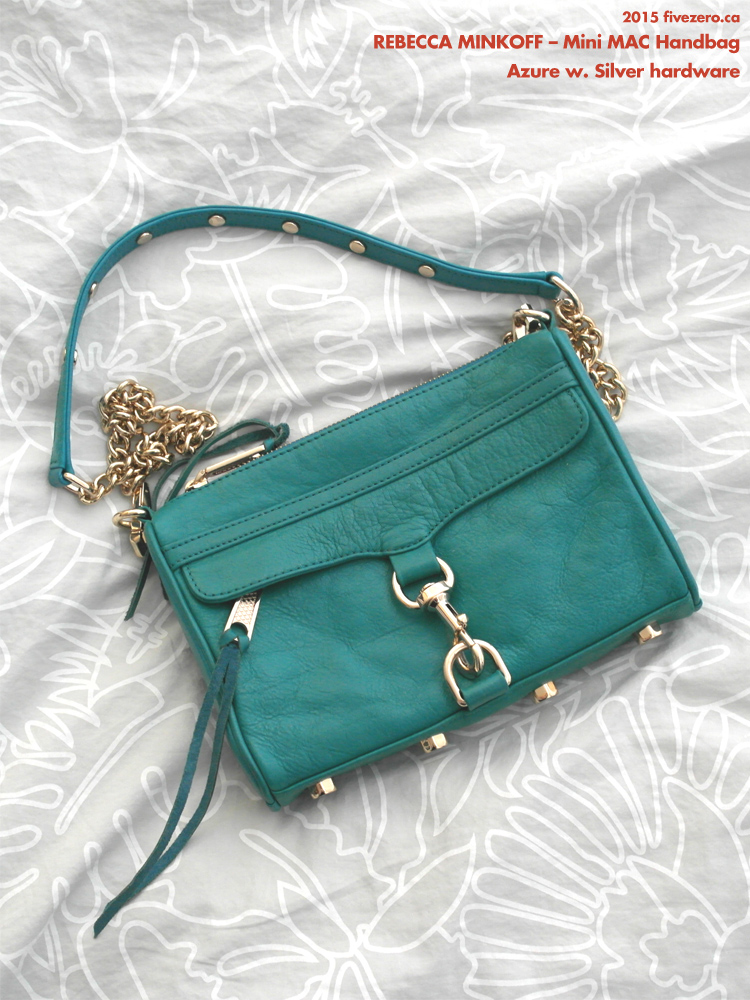 Rebecca Minkoff Mini MAC in Azure with Silver Hardware