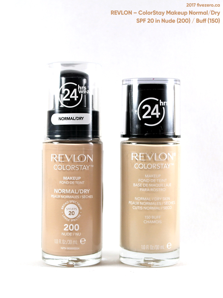 Revlon ColorStay Makeup, Normal/Dry, SPF 20 Nude (200), Buff (150)