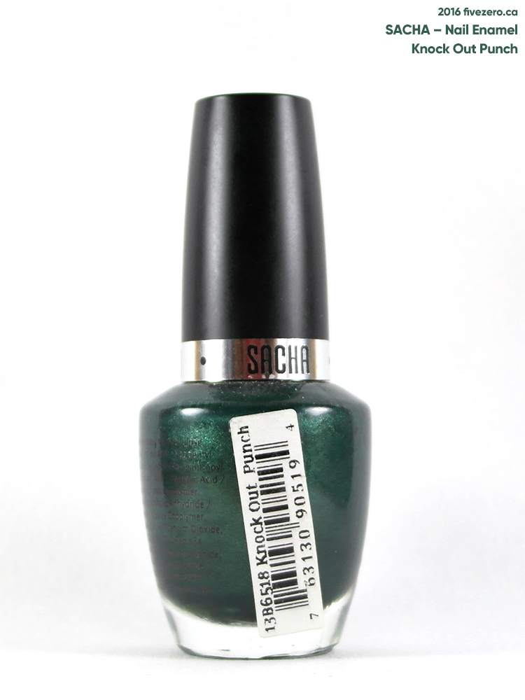 Sacha Nail Enamel in Knock Out Punch, label