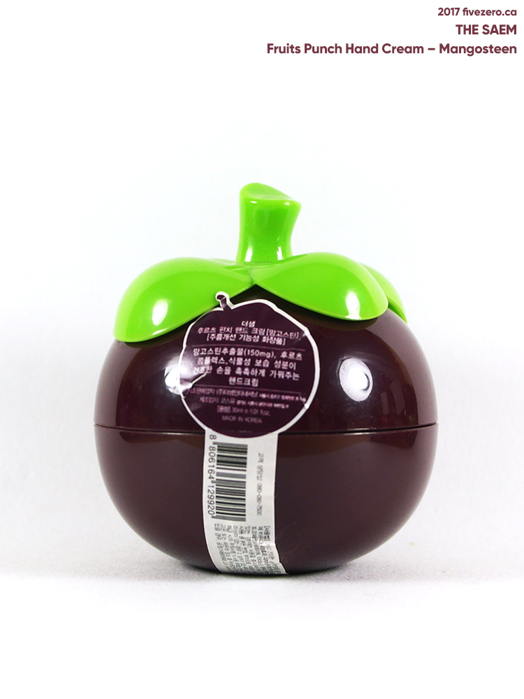 The Saem Fruits Punch Hand Cream in Mangosteen