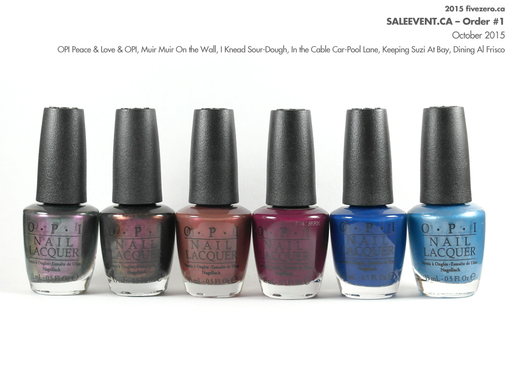 SaleEvent Order, OPI Nail Lacquers from 2013 San Francisco collection