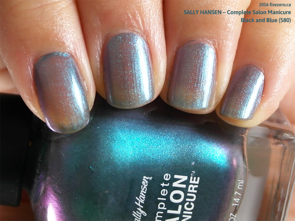 Sally Hansen Complete Salon Manicure in Black and Blue, swatch