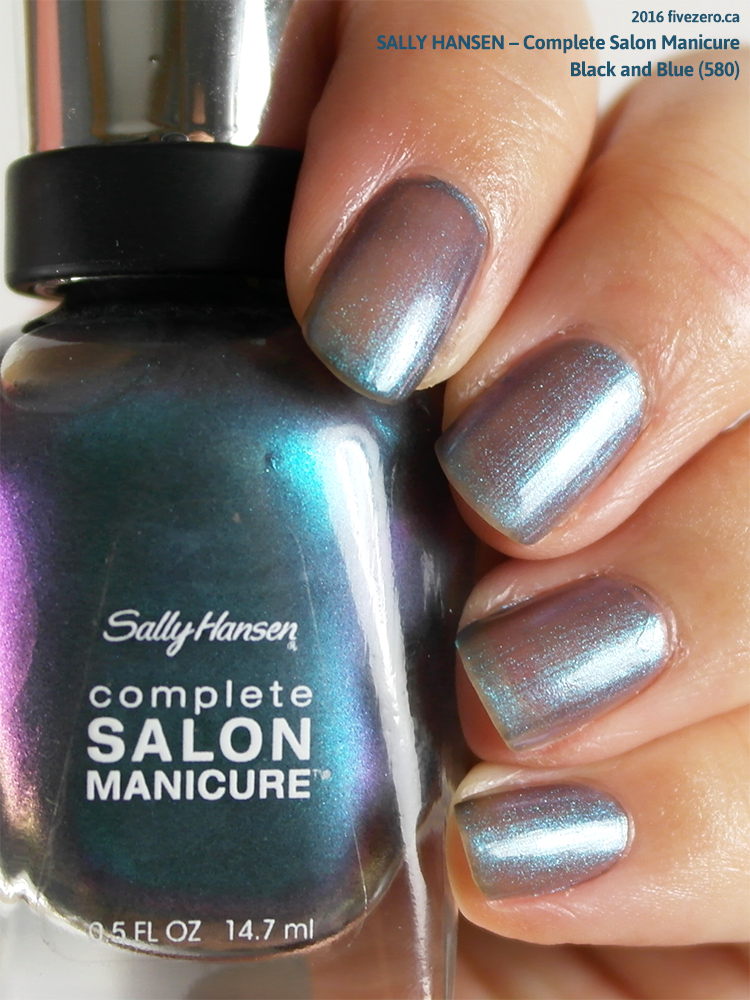 Sally Hansen Complete Salon Manicure in Black and Blue, swatch
