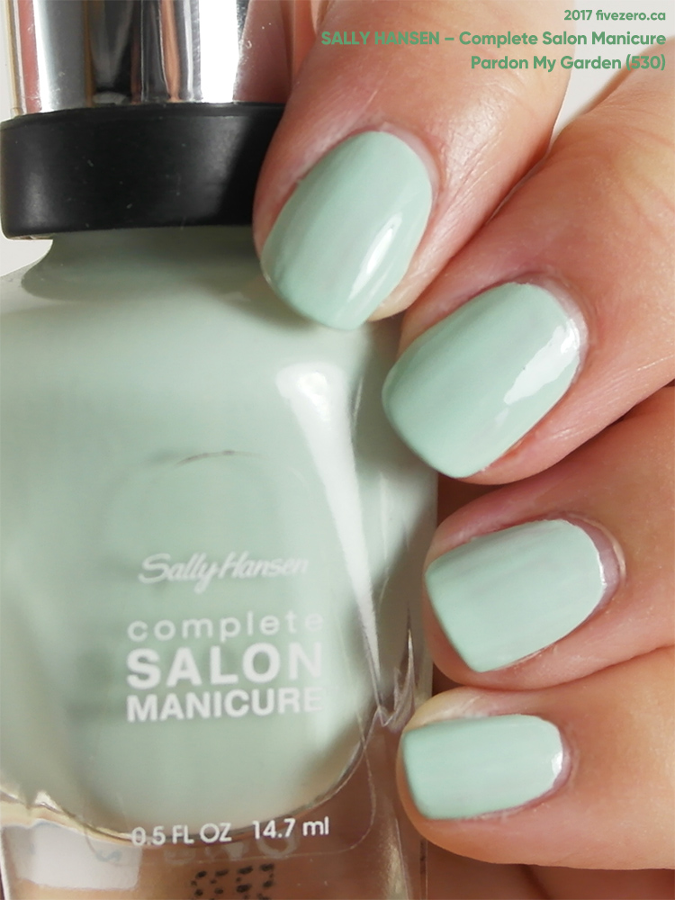Sally Hansen Complete Salon Manicure in Pardon My Garden, swatch