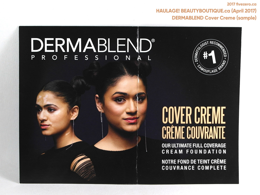 fivezero's beautyBOUTIQUE haulage, sample of Dermablend Cover Creme (April 2017)