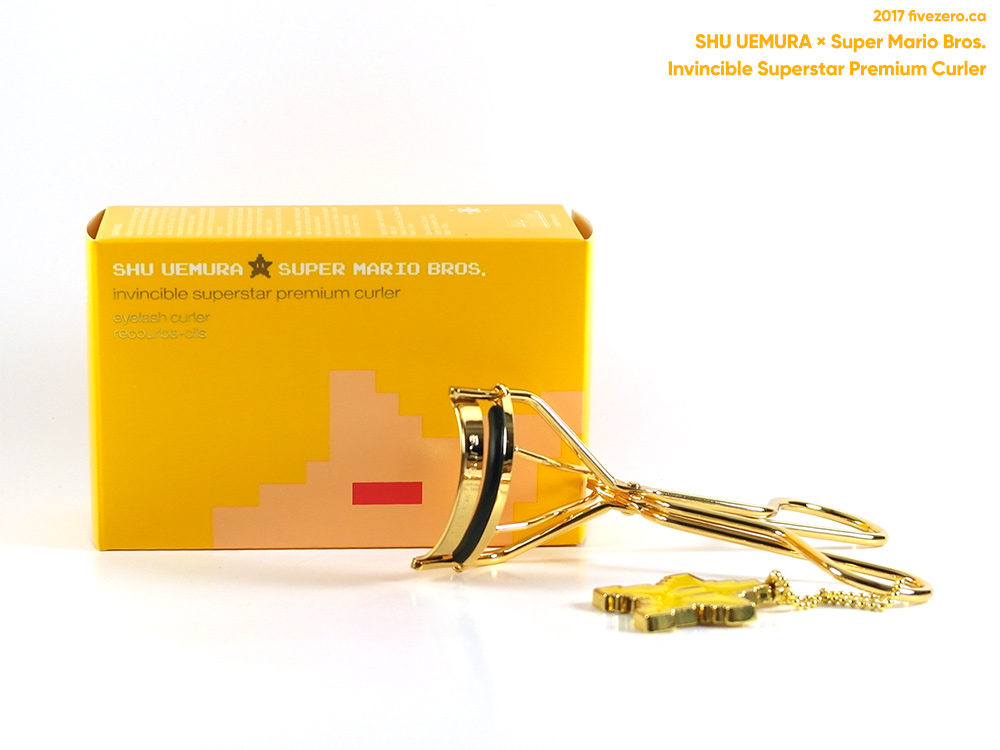 shu uemura x super mario bros. collection, invincible superstar premium gold curler