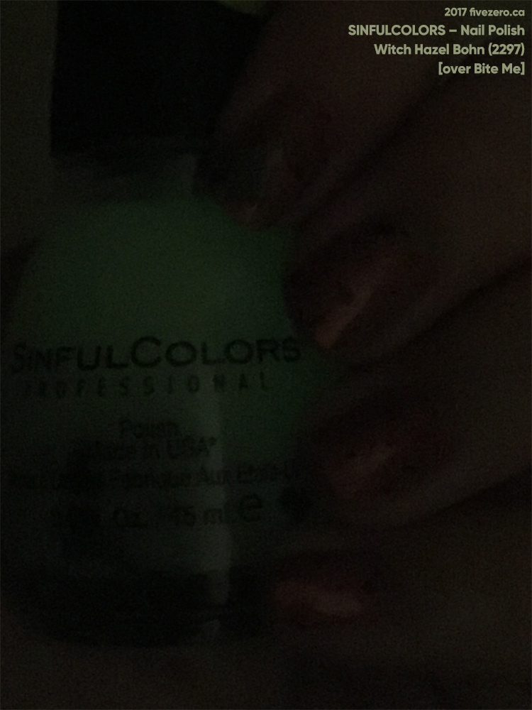 SinfulColors Nail Polish in Witch Hazel Bohn (Glow-in-the-Dark)