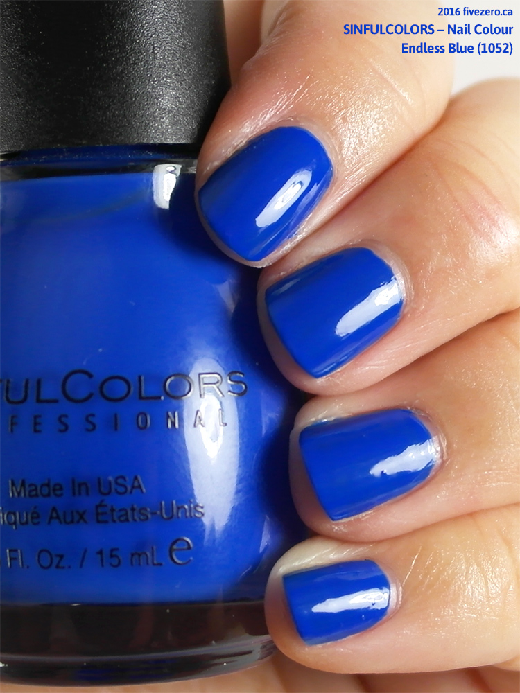 SinfulColors Nail Colour in Endless Blue (US Election Day 2016), swatch