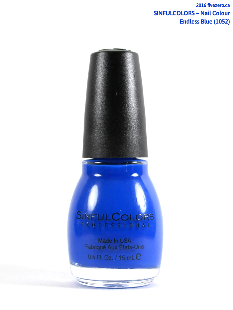 SinfulColors Nail Colour in Endless Blue (US Election Day 2016)