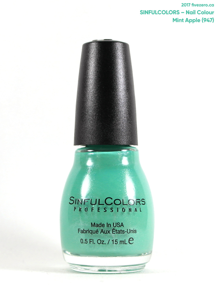 SinfulColors Nail Colour in Mint Apple