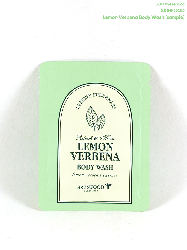 Skinfood Lemon Verbena Body Wash (free sample)