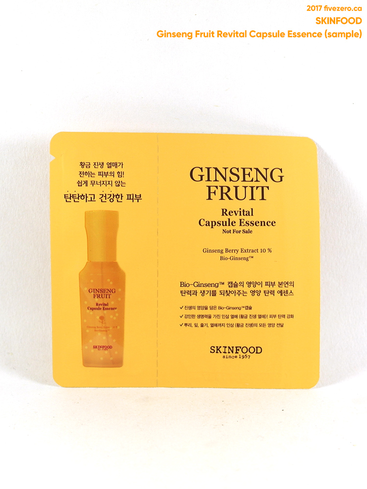 Skinfood Ginseng Fruit Revital Capsule Essence (free sample)