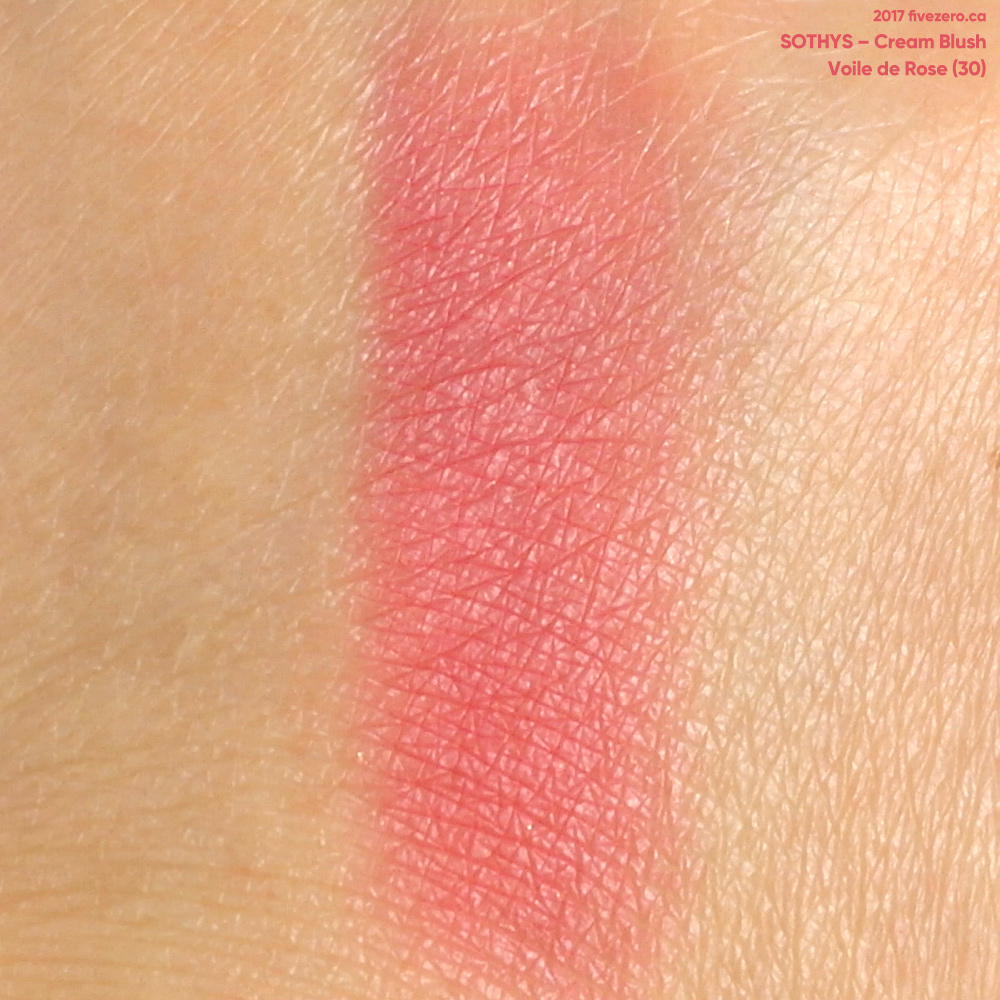 Sothys Cream Blush in Voile de Rose, swatch