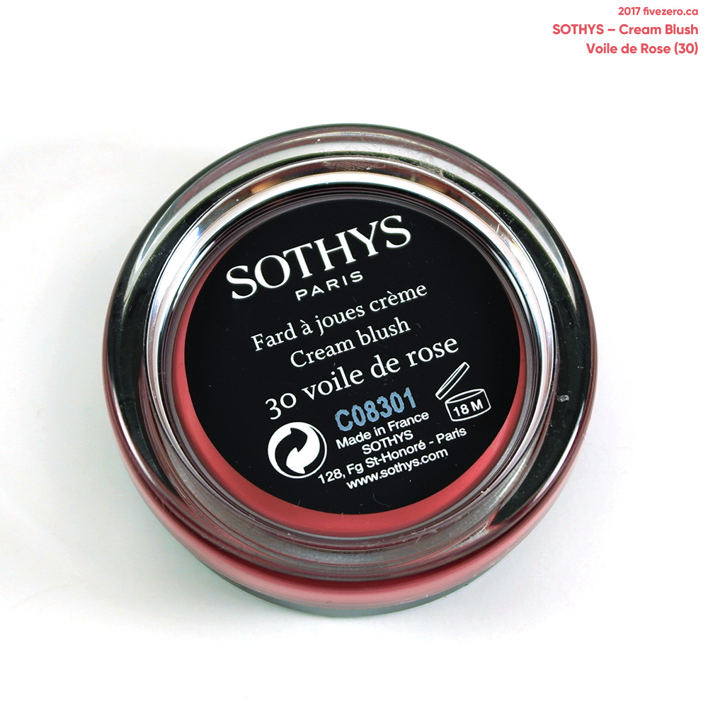 Sothys Cream Blush in Voile de Rose, label