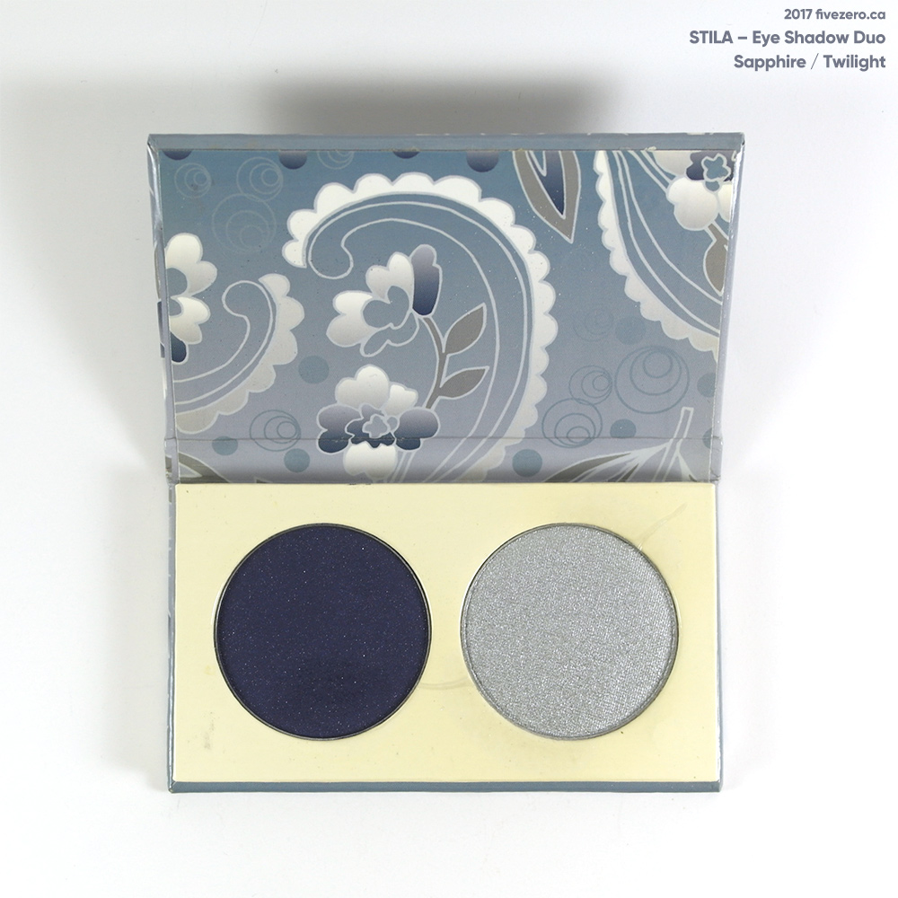 Stila eye shadow duo in Twilight & Sapphire