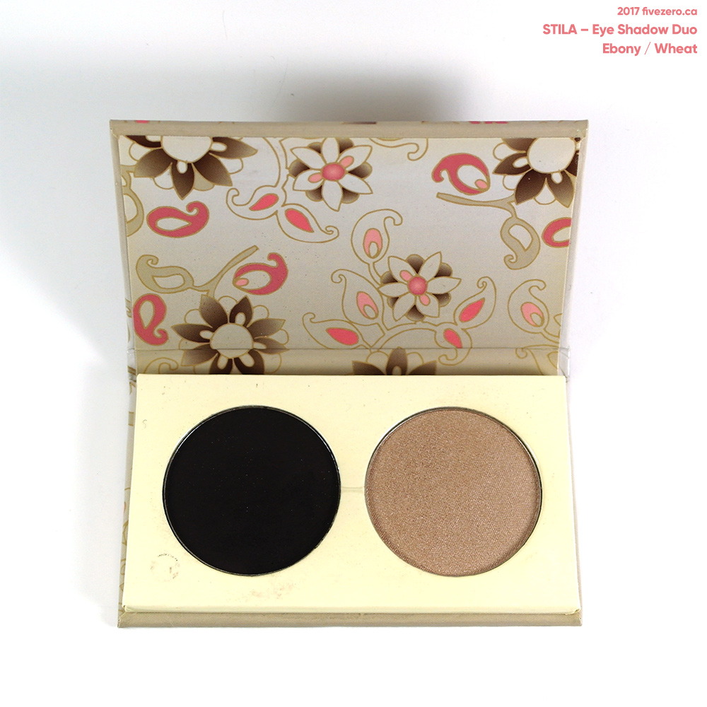 Stila eye shadow duo in Wheat & Ebony