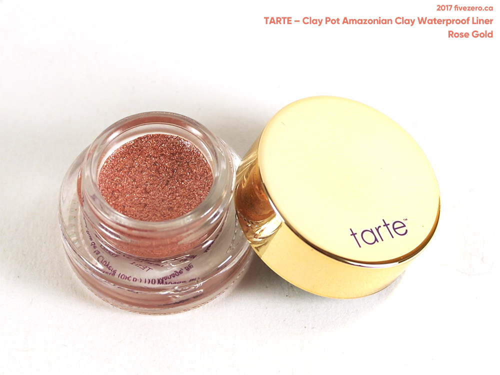 tarte Clay Pot Waterproof Shadow Liner (doubles as cream eyeshadow) in Rose Gold