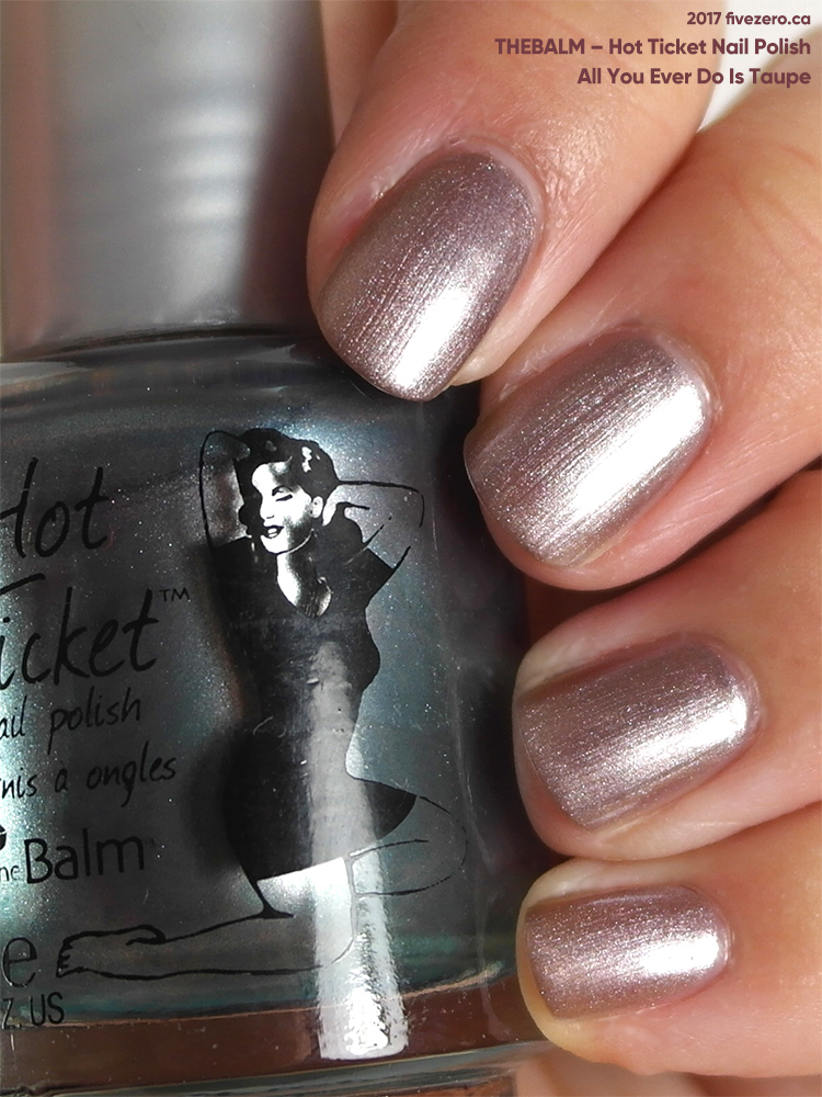 theBalm Hot Ticket Nail Polish in All You Ever Do Is Taupe