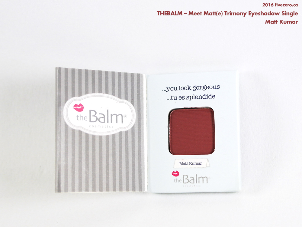 theBalm Meet Matt(e) Eyeshadow Single in Matt Kumar from Trimony Palette