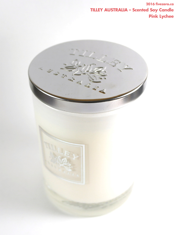 Tilley Australia Scented Soy Candle in Pink Lychee