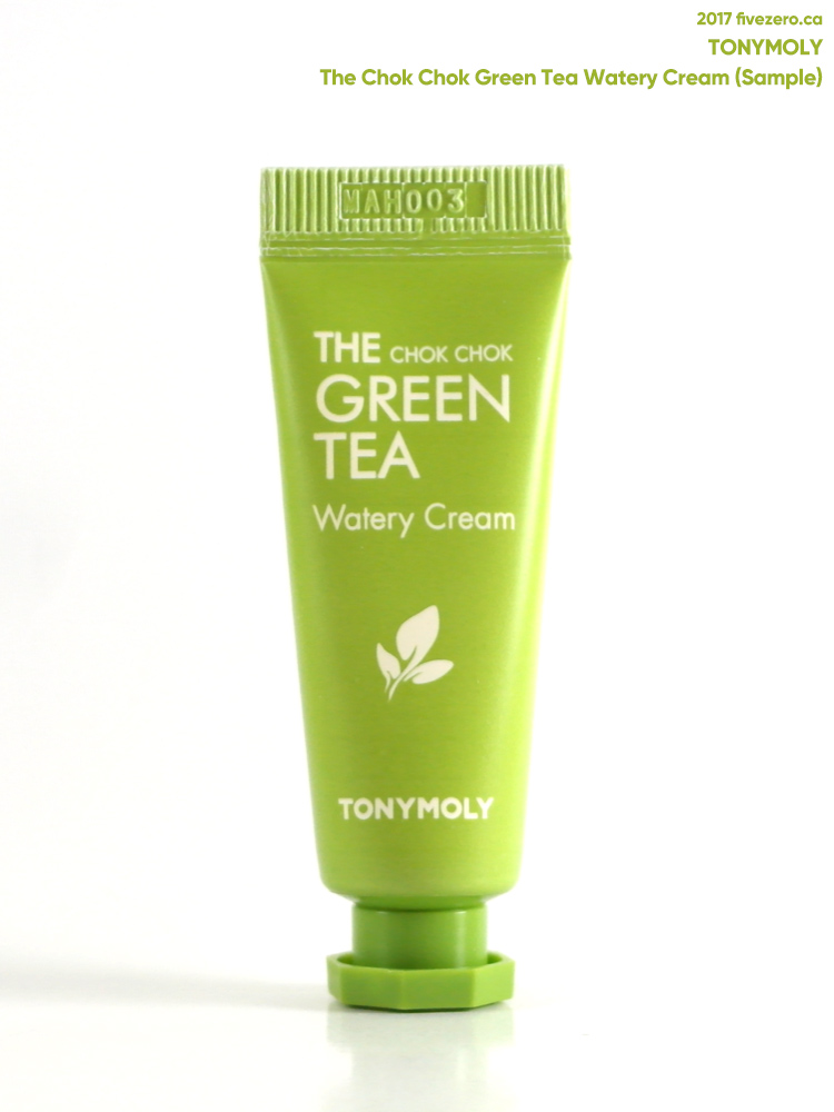TonyMoly — The Chok Chok Green Tea Watery Cream (sample)