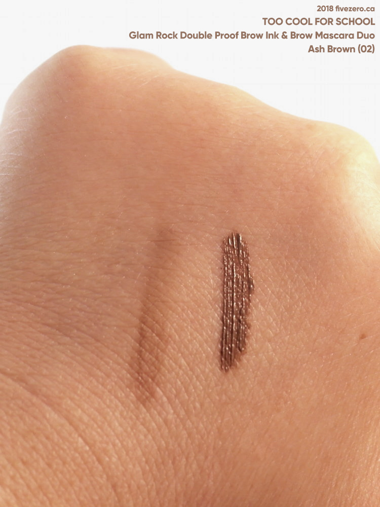 Too Cool for School Glam Rock Double Proof Brow in Ash Brown (02), swatch