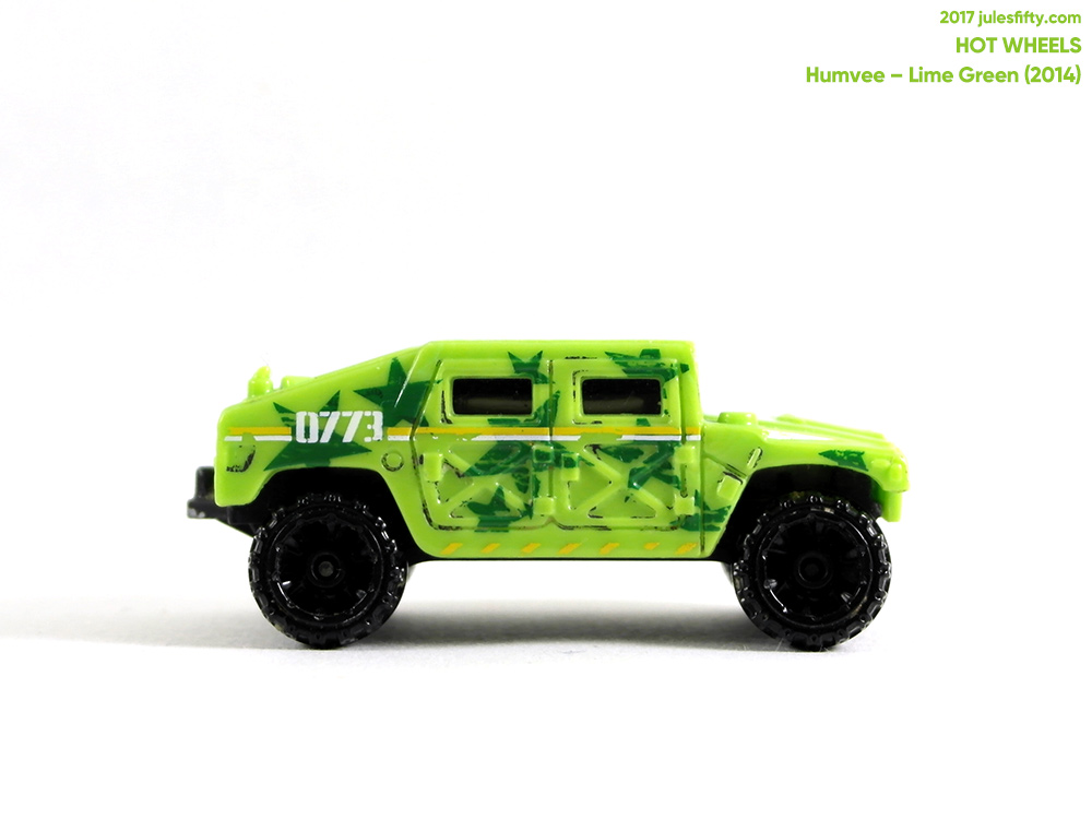 Hot Wheels Humvee in Lime Green