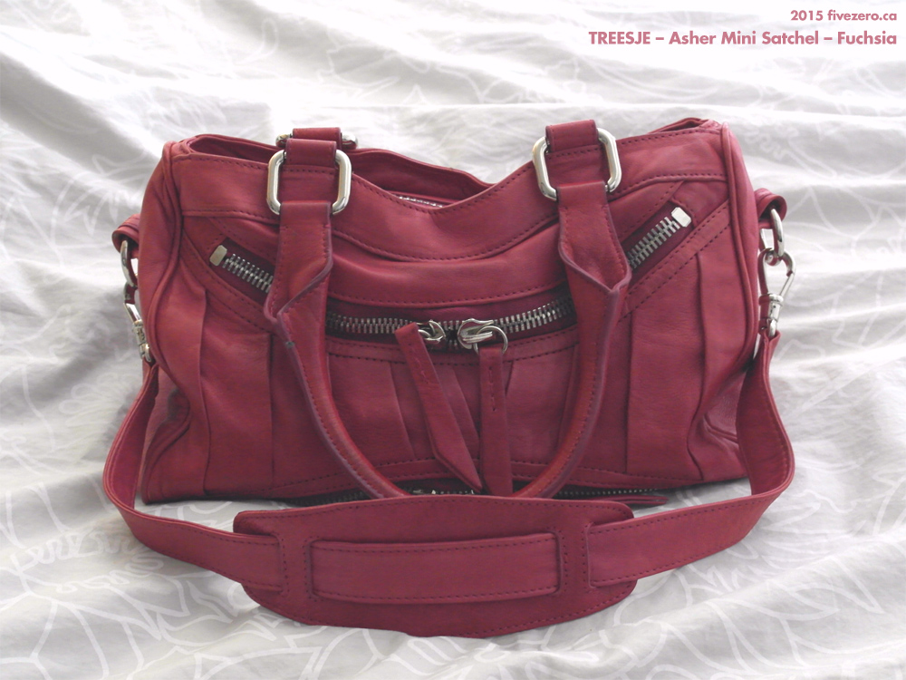 Treesje Asher Mini Satchel in Fuchsia