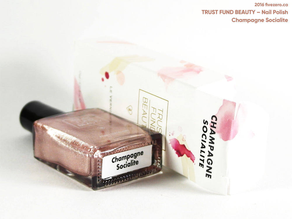Trust Fund Beauty Nail Polish in Champagne Socialite, label