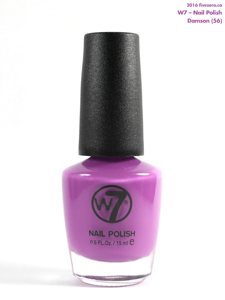 W7 Nail Polish in Damson