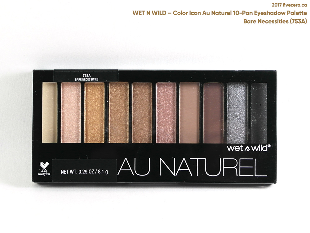 Wet n Wild Color Icon Au Naturel 10-Pan Eyeshadow Palette in Bare Necessities (753A)