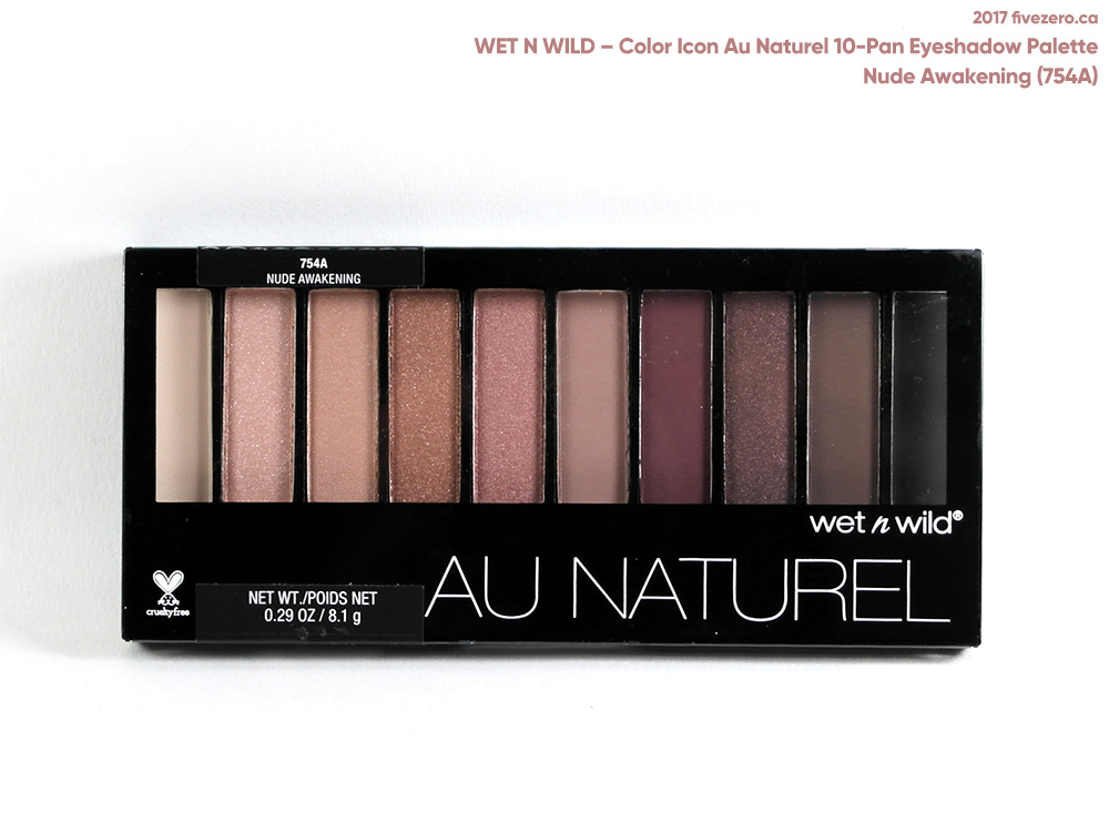 Wet n Wild Color Icon Au Naturel 10-Pan Eyeshadow Palette in Nude Awakening (754A)