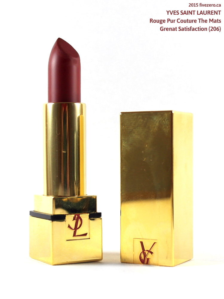 Yves Saint Laurent Rouge Pur Couture The Mats Lipstick in Grenat Satisfaction