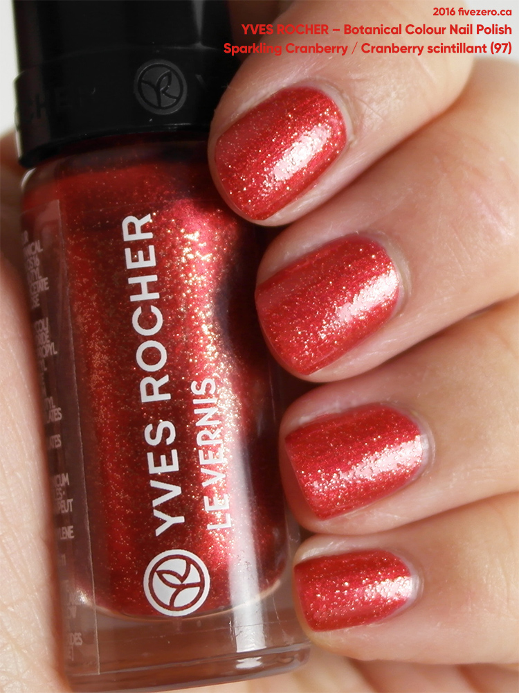 Yves Rocher Botanical Color Nail Polish in Sparkling Cranberry / Cranberry scintillant, swatch