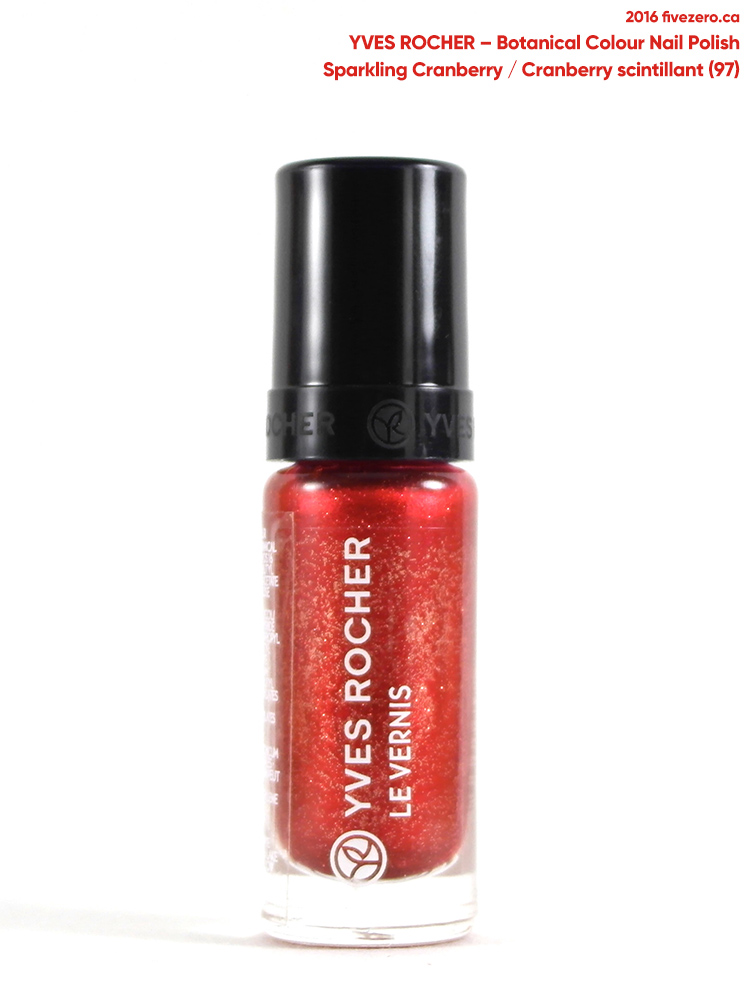 Yves Rocher Botanical Color Nail Polish in Sparkling Cranberry / Cranberry scintillant