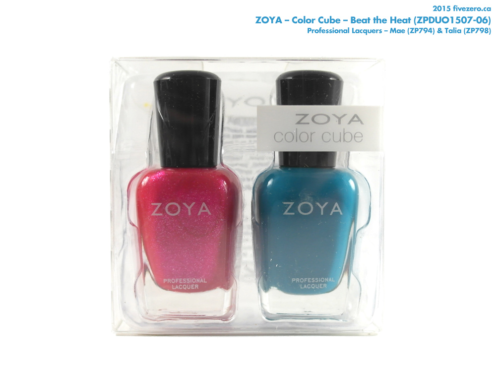 Zoya Color Cube in Beat the Heat (Talia & Mae)