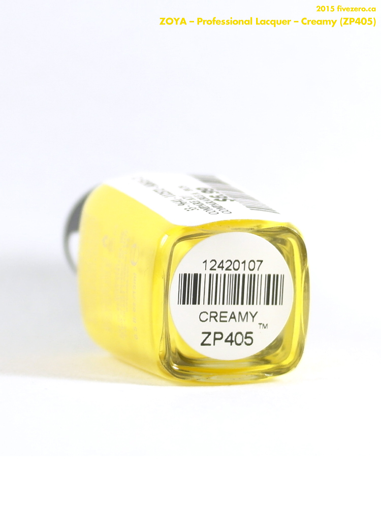 Zoya Professional Lacquer in Creamy, label